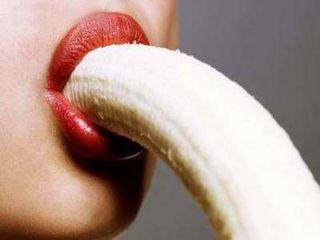 Banana-fellatio