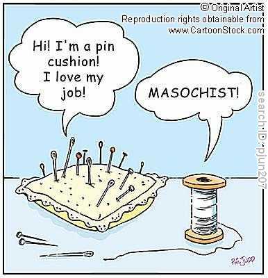 Masochist-pin-cushion